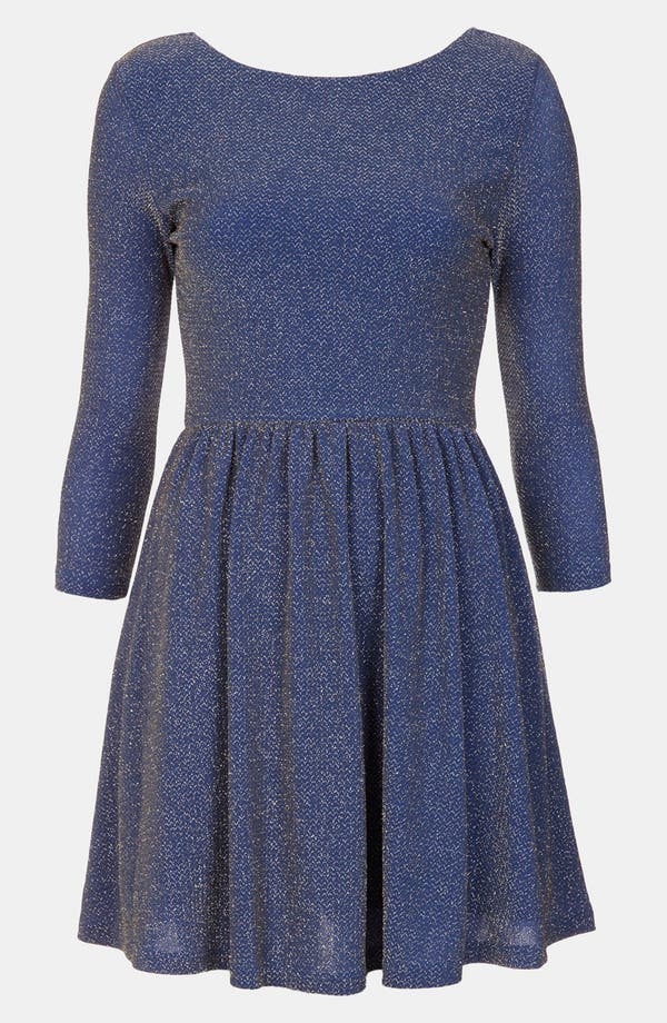 Alternate Image 1 Selected - Topshop Sparkle Skater Dress