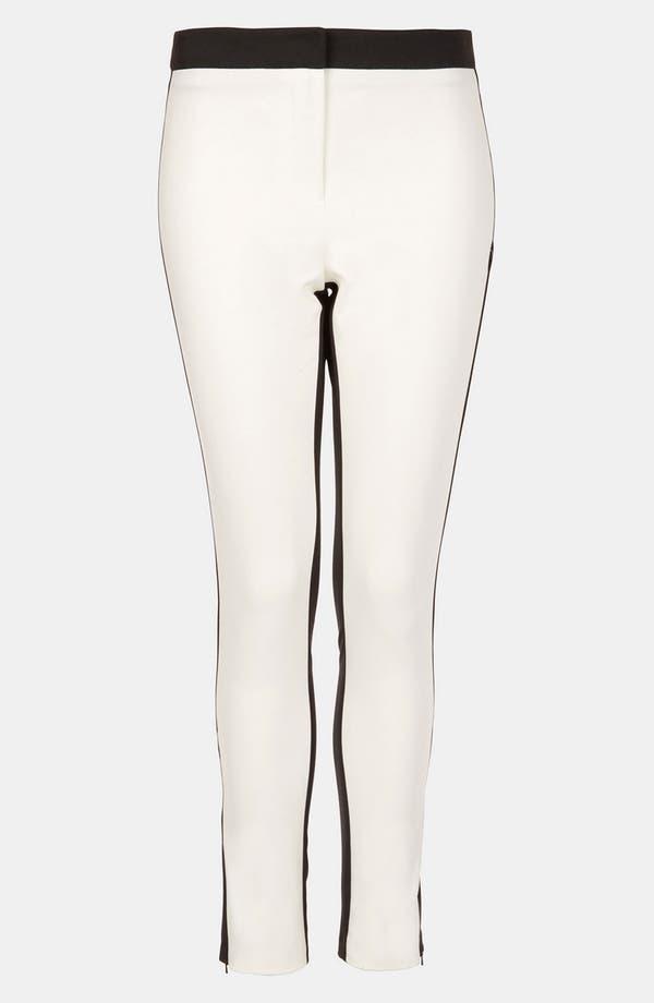 Main Image - Topshop Colorblock Skinny Pants