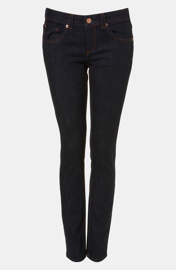 Main Image - Topshop Moto 'Baxter' Skinny Jeans (Indigo)