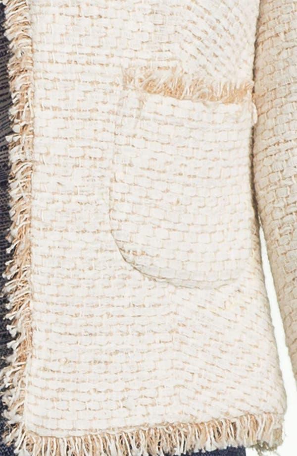 Alternate Image 3  - L'AGENCE Frayed Woven Jacket