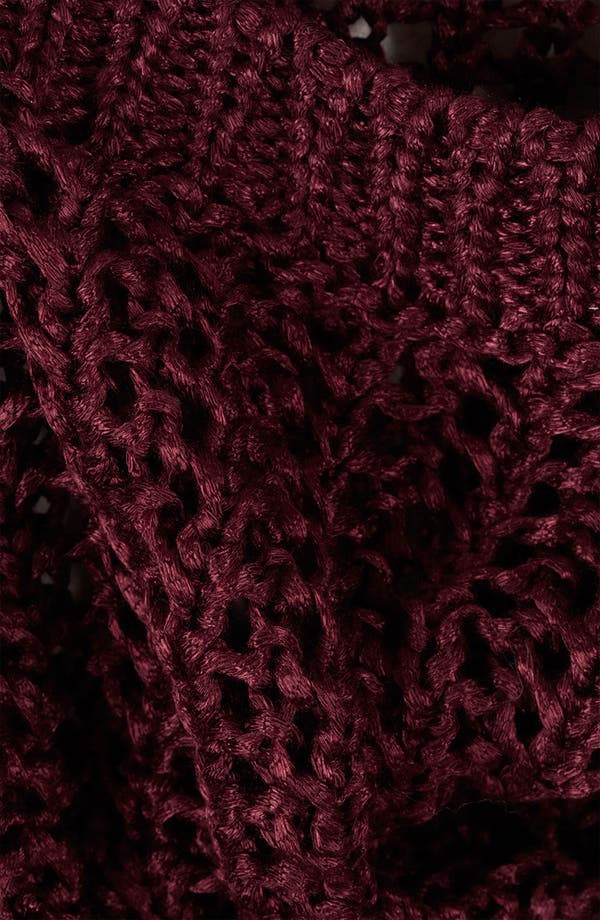 Alternate Image 3  - Topshop Lustrous Mesh Knit Sweater