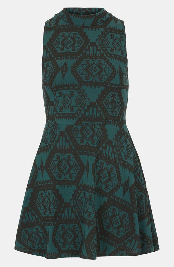 Alternate Image 1 Selected - Topshop Aztec Print Polo Tunic