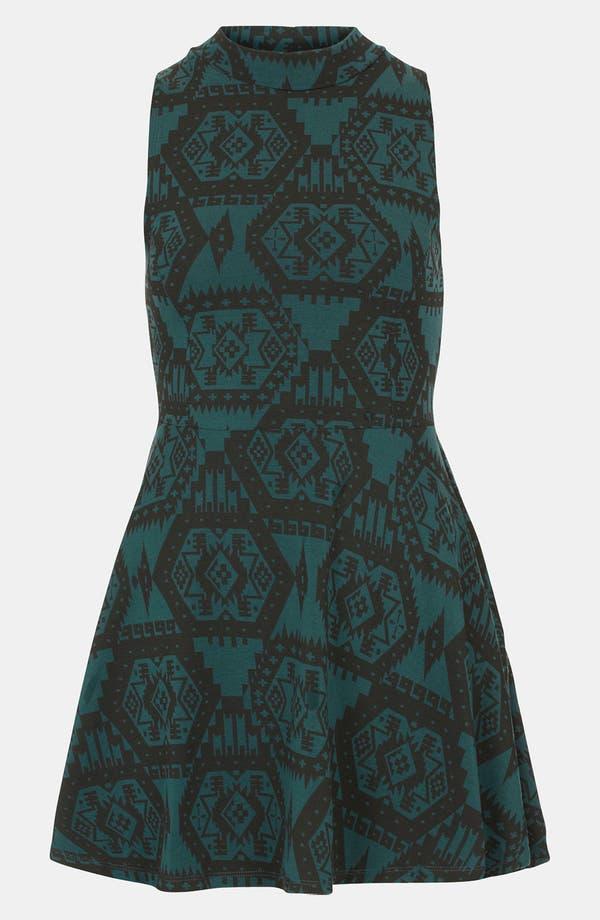 Main Image - Topshop Aztec Print Polo Tunic