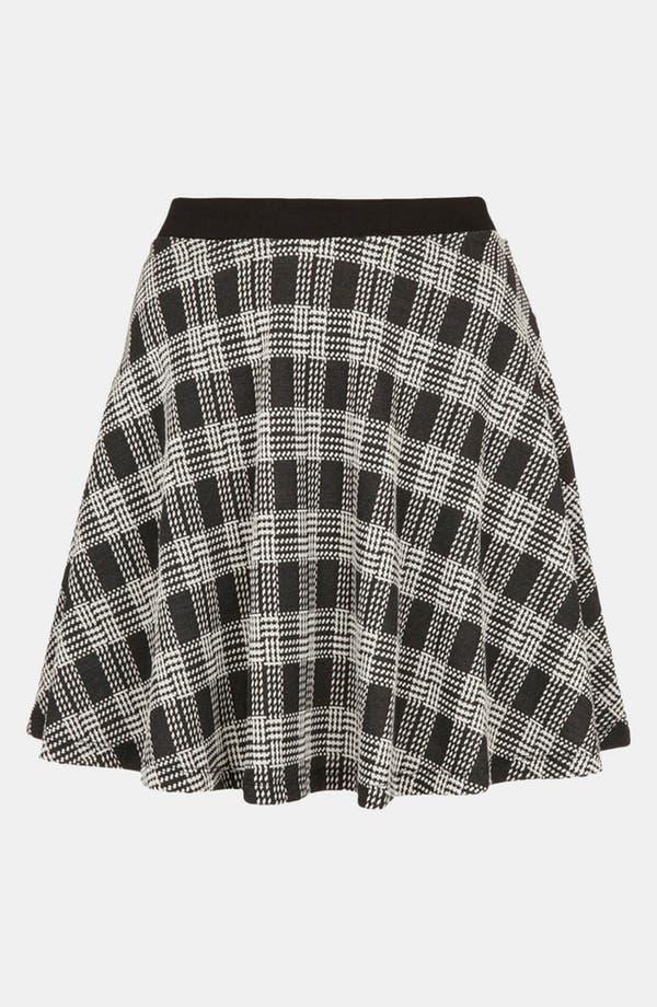 Main Image - Topshop Plaid Skater Skirt (Petite)