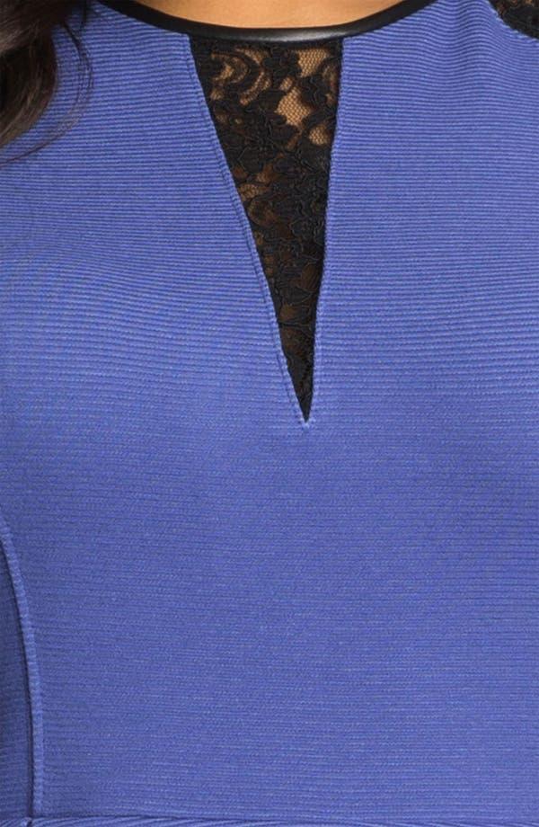 Alternate Image 3  - ABS by Allen Schwartz Lace Inset Peplum Sheath Dress (Plus Size)