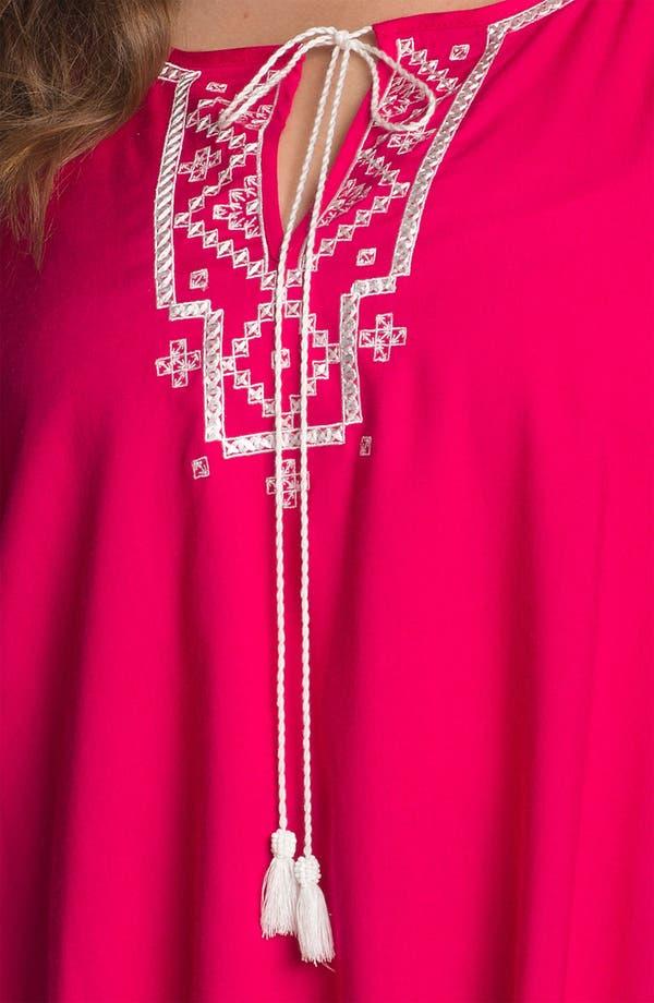 Alternate Image 3  - Karen Kane Embroidered Angel Sleeve Top (Plus Size) (Online Only)