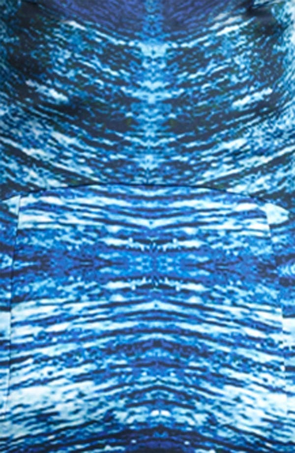 Alternate Image 3  - Naeem Khan Print Organza Cocktail Dress
