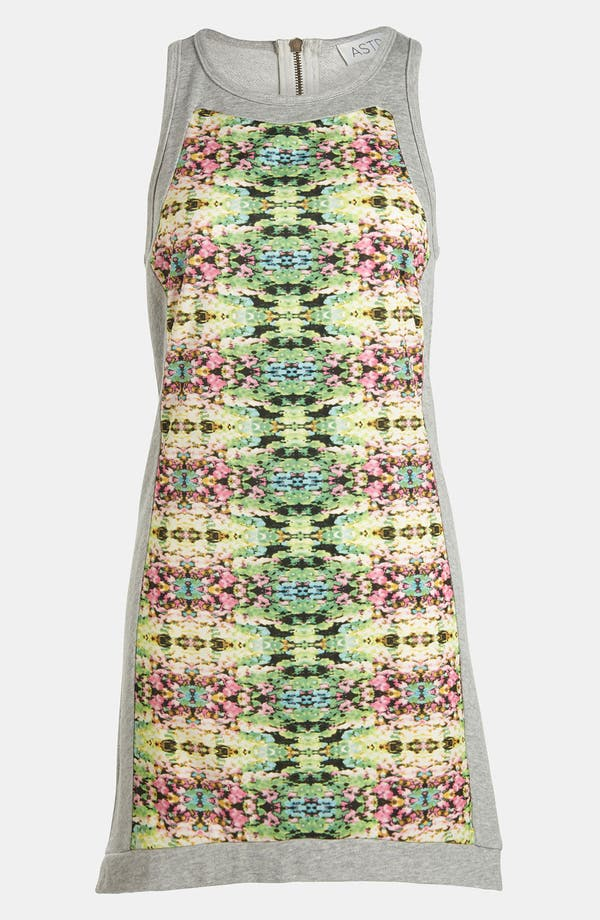 Main Image - ASTR Mixed Media Racerback Dress