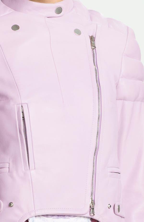 Alternate Image 4  - Carven Leather Moto Jacket