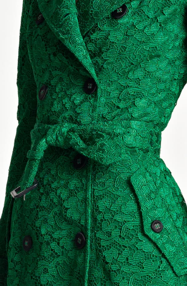 Alternate Image 3  - Burberry Prorsum Belted Lace Trench Coat