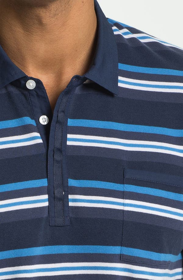 Alternate Image 3  - Cutter & Buck 'Victory Heights Stripe' Regular Fit Polo (Big & Tall)