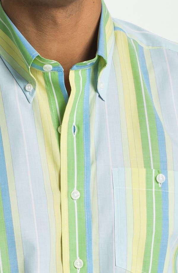 Alternate Image 3  - Cutter & Buck 'Fisk Stripe' Regular Fit Cotton & Silk Sport Shirt (Big & Tall) (Online Only)