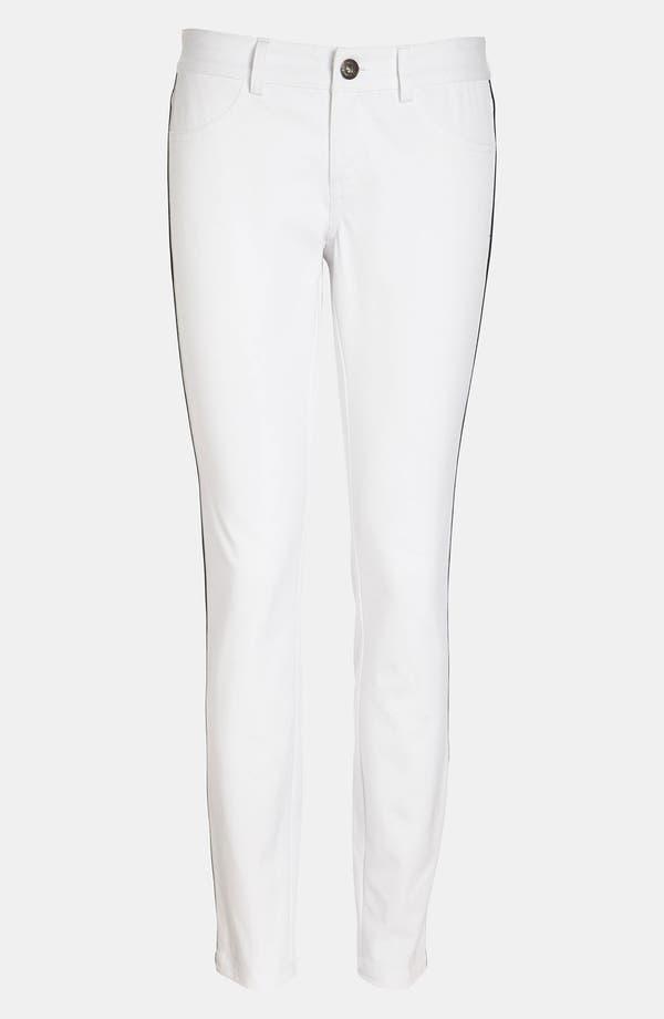 Alternate Image 1 Selected - BB Dakota Tuxedo Stripe Denim Leggings