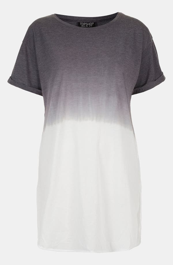 Alternate Image 1 Selected - Topshop Dip Dye Tunic Tee