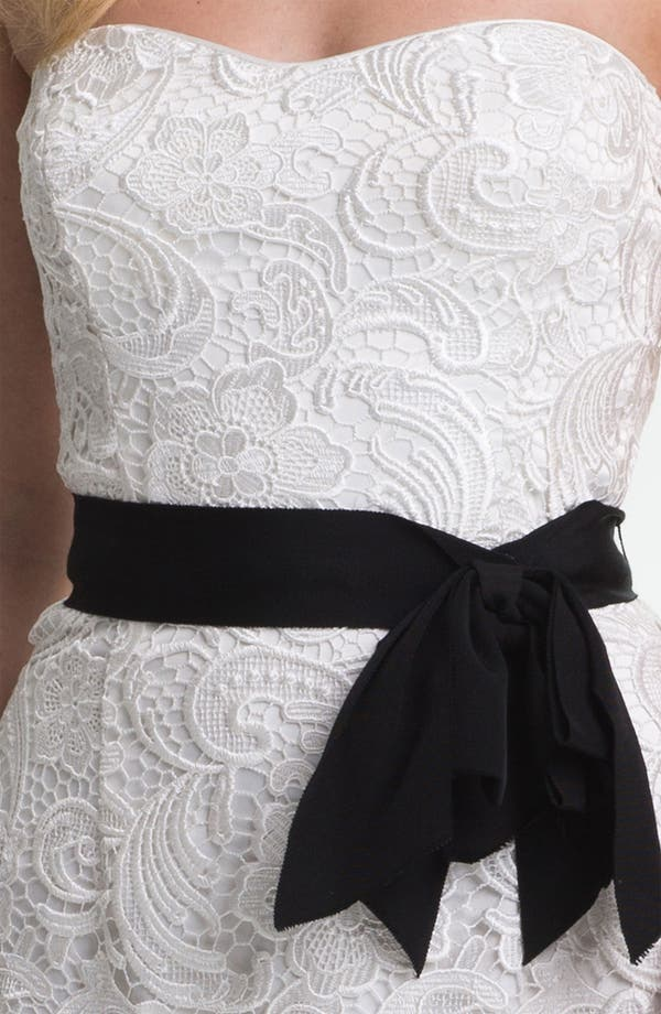 Alternate Image 3  - Adrianna Papell Strapless Lace Gown
