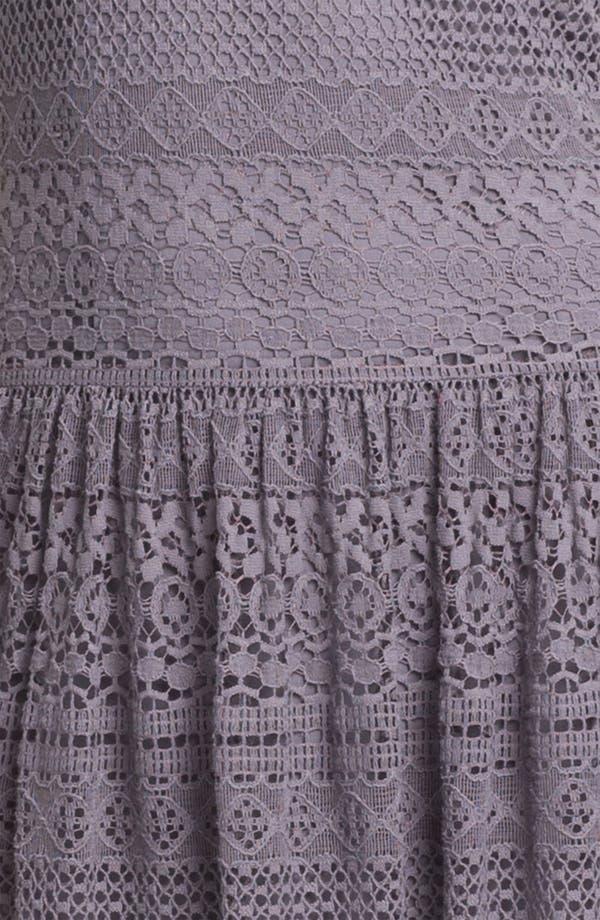 Alternate Image 3  - Suzi Chin for Maggy Boutique Crochet Maxi Dress