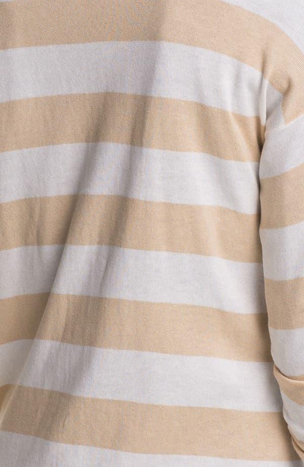 Alternate Image 3  - Vince Camuto Stripe V-Neck Cardigan (Petite)