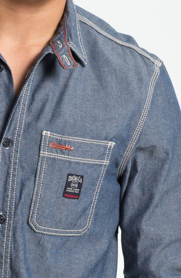 Alternate Image 3  - DIESEL® 'Stepy' Chambray Cotton Shirt