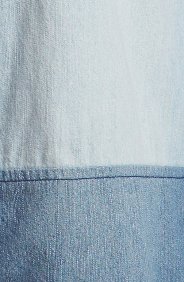 Alternate Image 3  - Leith Colorblock Chambray Shirt