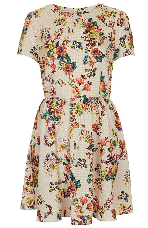 Alternate Image 3  - Topshop 'Florence' Sampler Print Dress