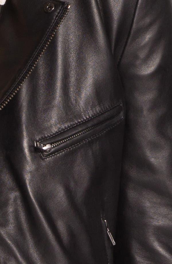 Alternate Image 3  - Topman 'Lux Collection' Lambskin Leather Biker Jacket