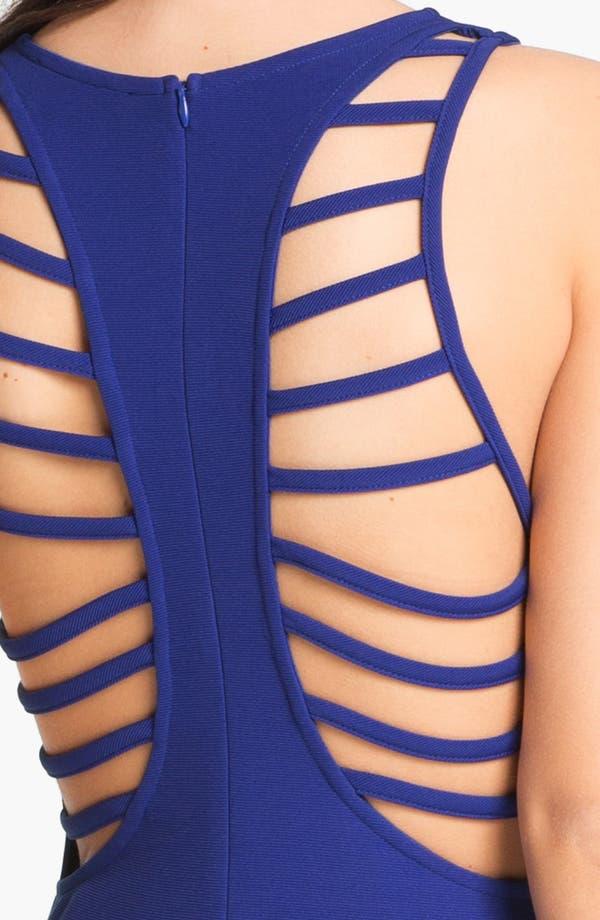 Alternate Image 3  - Lush Cage Back Body-Con Dress (Juniors)