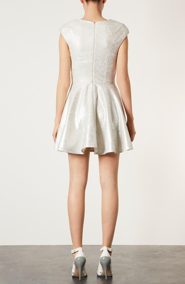 Alternate Image 2  - Topshop Metallic Lace Skater Dress