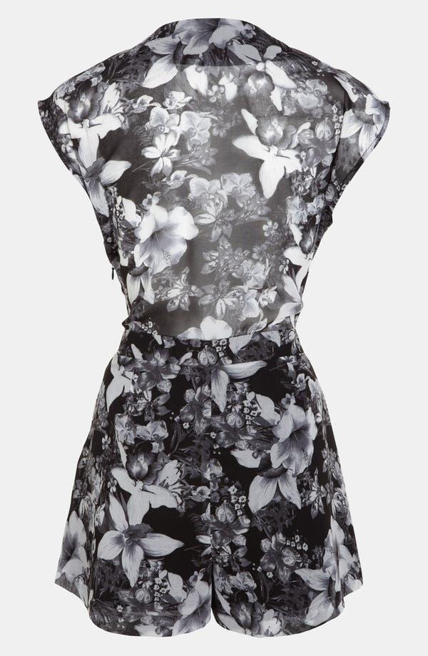 Alternate Image 2  - ASTR Tie Front Floral Romper