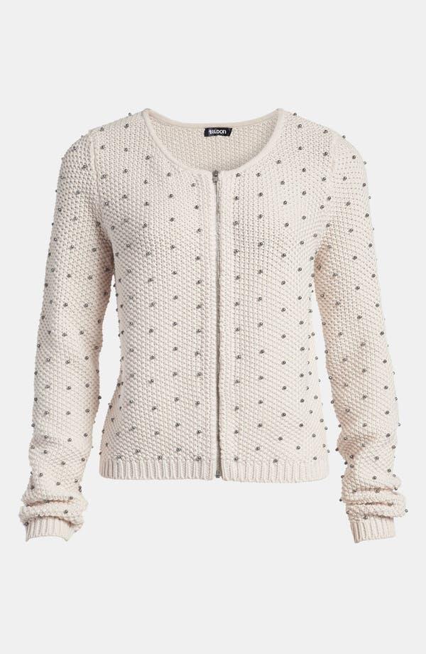 Alternate Image 1 Selected - Tildon Beaded Bomber Sweater