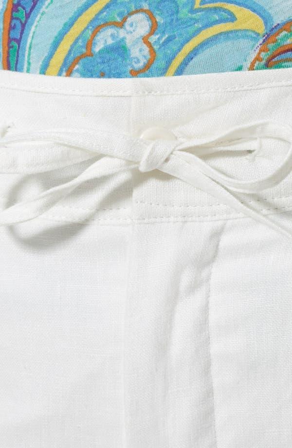 Alternate Image 4  - Lauren Ralph Lauren Drawstring Linen Pants (Plus)