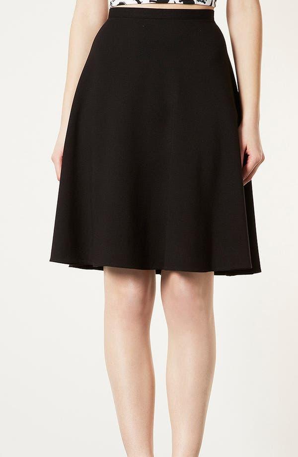 Main Image - Topshop 'Milano' Skater Skirt