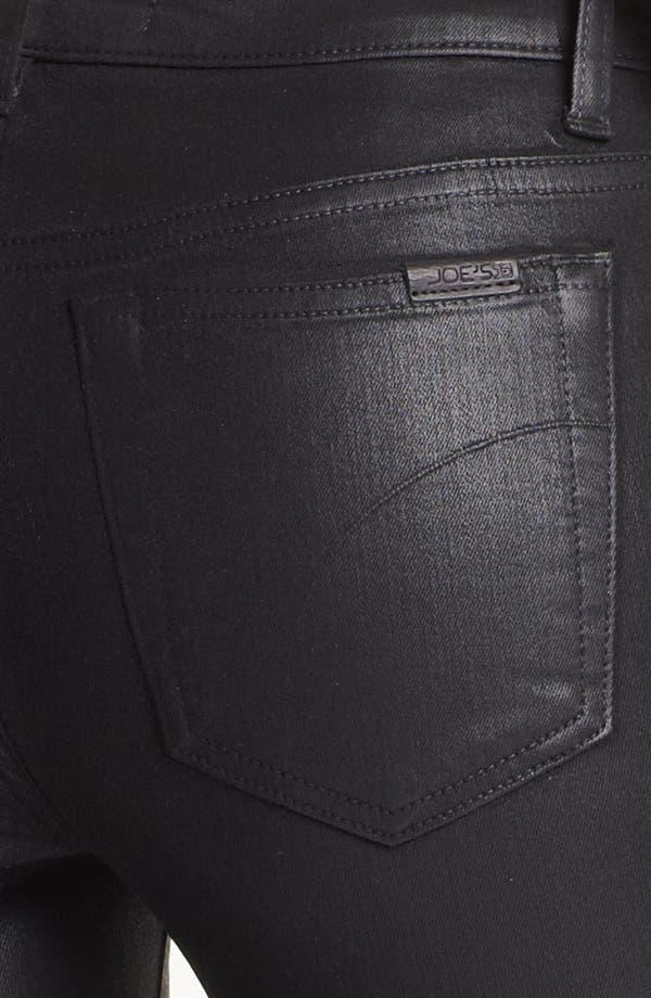 Alternate Image 3  - Joe's 'The Skinny' Coated Stretch Jeans (Black)