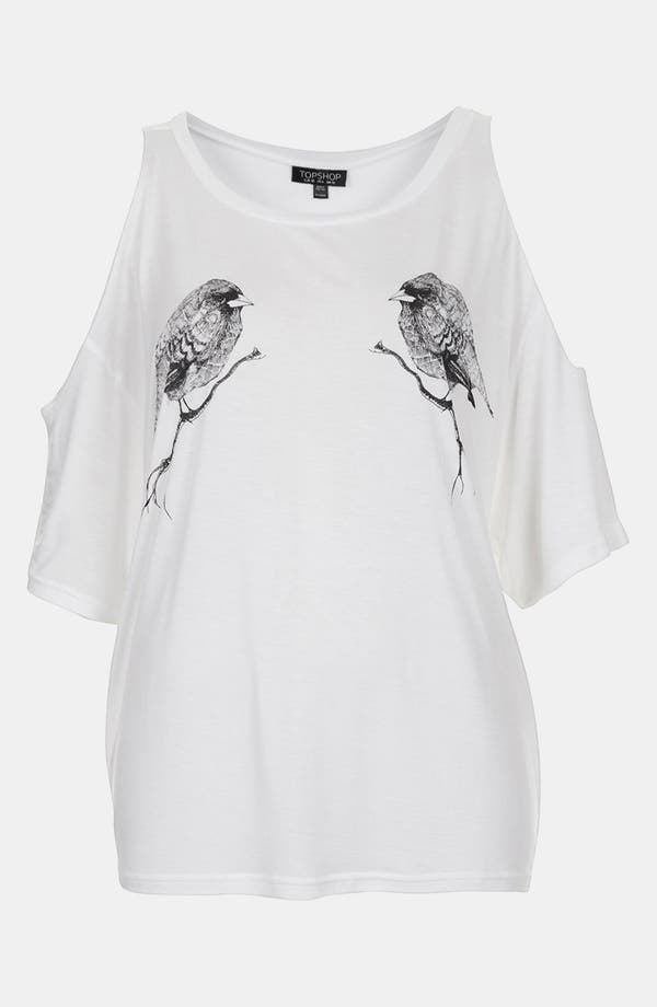 Alternate Image 1 Selected - Topshop Open Shoulder Tee