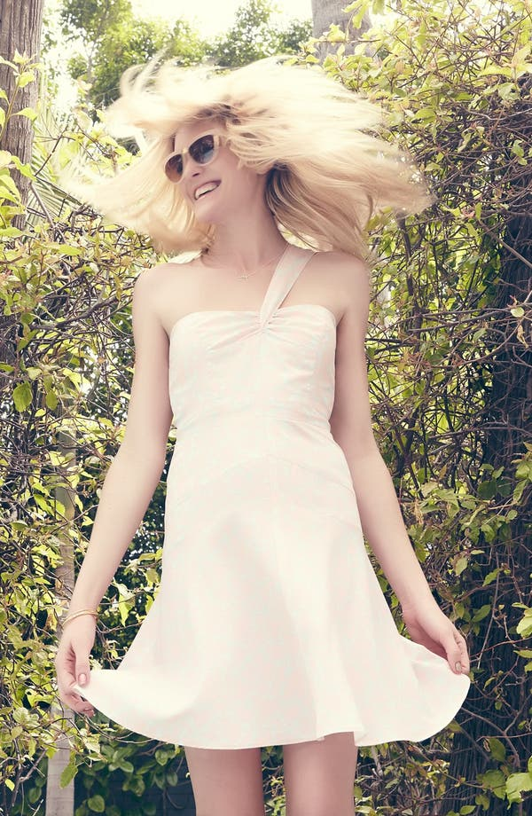 Alternate Image 4  - Wayf Single Shoulder Strap Dress