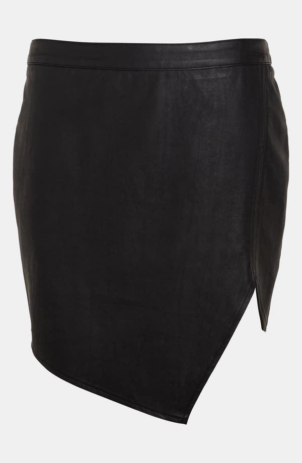 Alternate Image 3  - ASTR Asymmetrical Faux Leather Skirt
