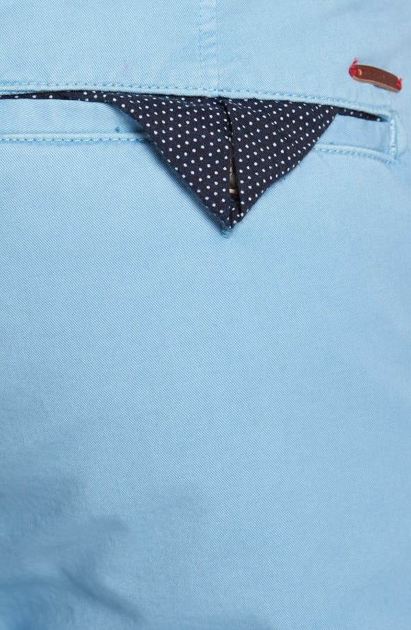 Alternate Image 3  - Ted Baker London Flat Front Cotton Chinos