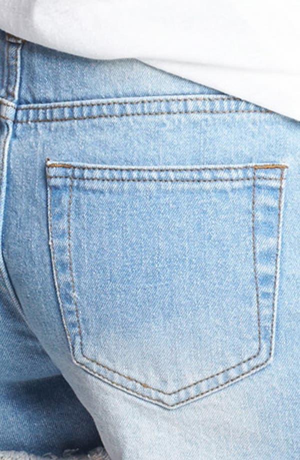 Alternate Image 3  - Fire Patchwork Denim Shorts (Juniors)