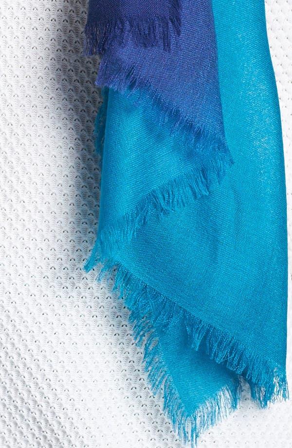 Alternate Image 2  - Nordstrom Ombré Eyelash Cashmere & Silk Wrap