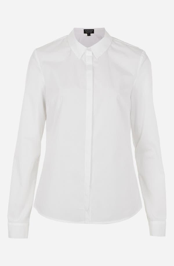 Alternate Image 3  - Topshop Cotton Shirt