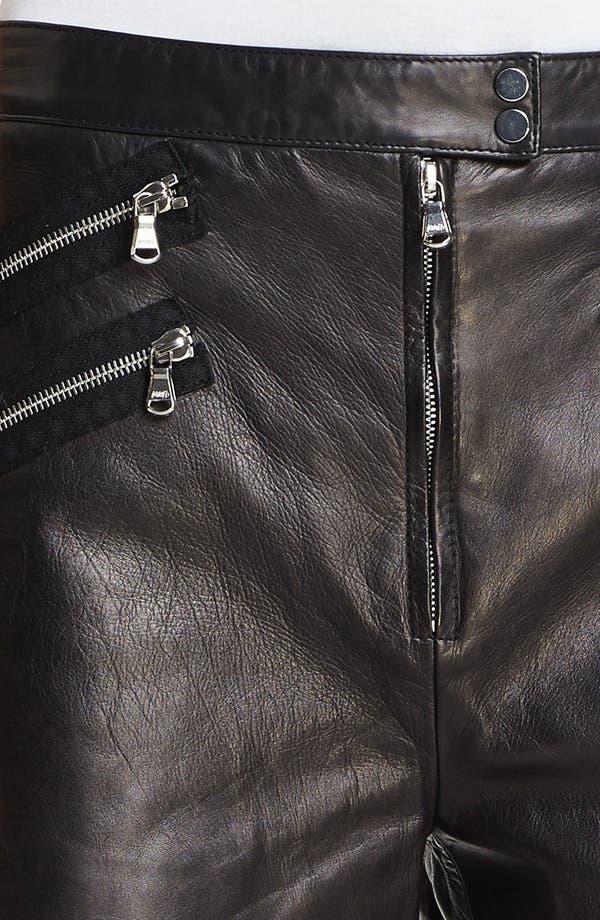 Alternate Image 3  - 3.1 Phillip Lim Multi Zip Leather Shorts