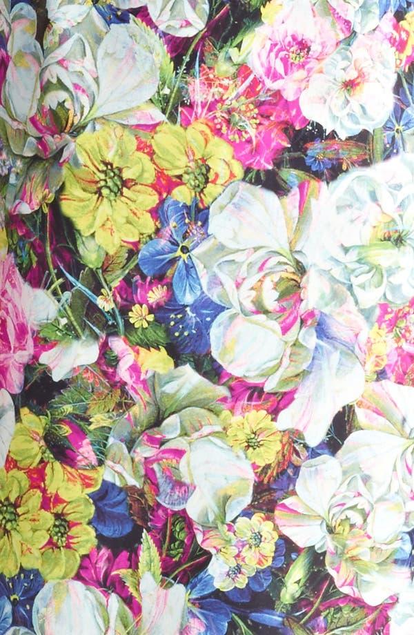 Alternate Image 3  - Erdem St. Germain Rose Print Leather Dress