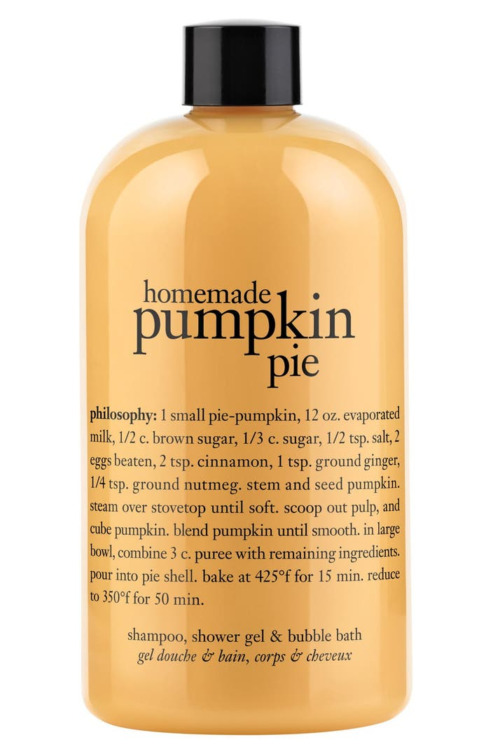 Philosophy 39 homemade pumpkin pie 39 shampoo shower gel for Home made product for sale
