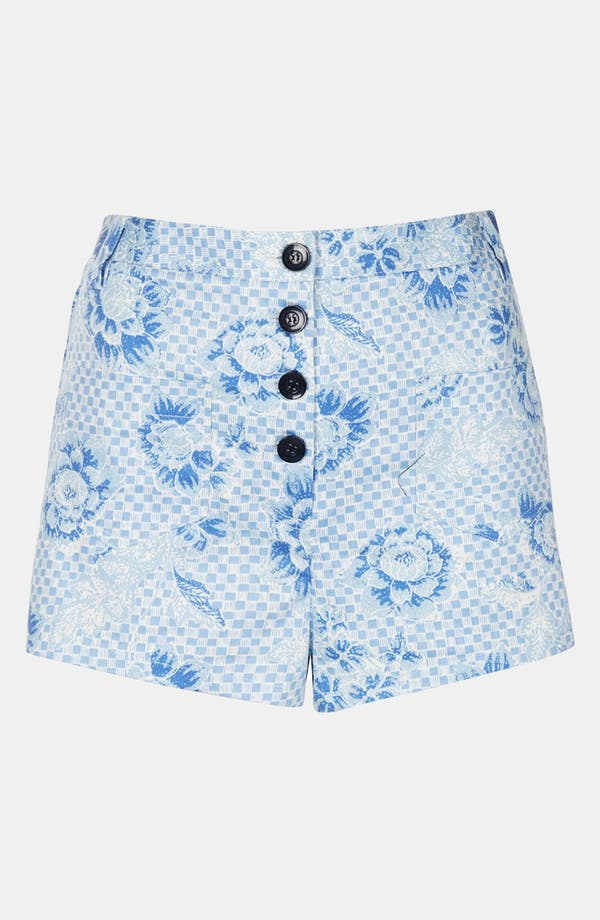 Alternate Image 3  - Topshop Checkerboard Shorts