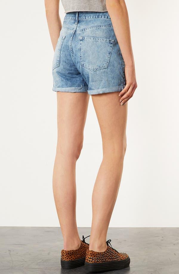 Alternate Image 2  - Topshop Destroyed Denim Shorts