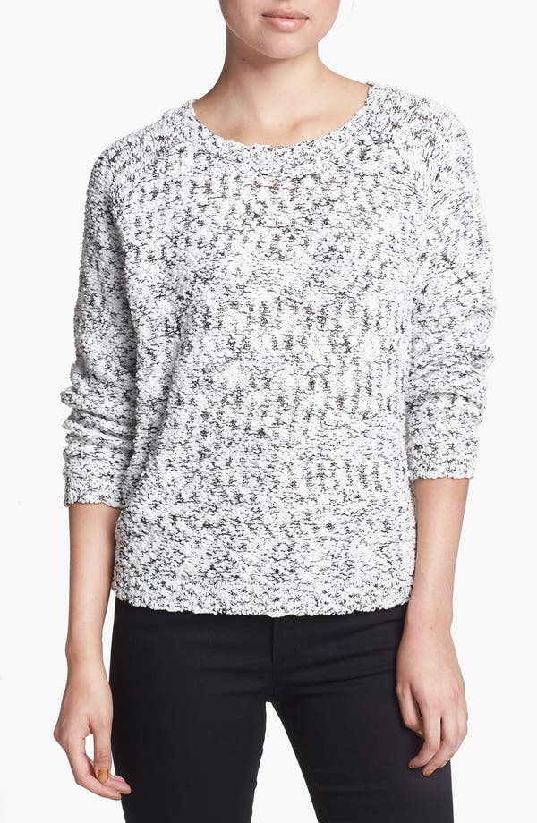 Main Image - ASTR Lace Back Nubby Sweater