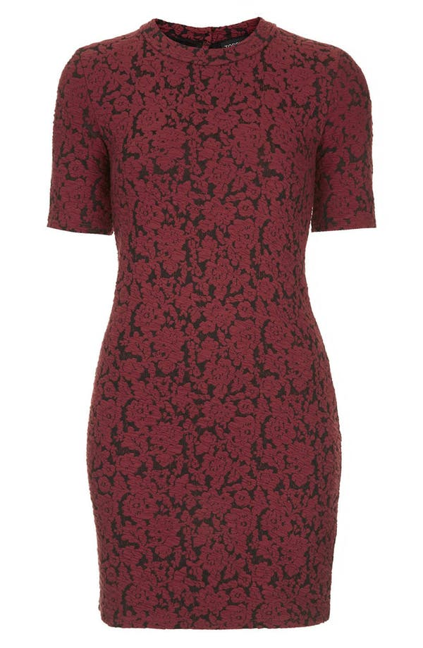 Alternate Image 3  - Topshop Mock Neck Floral Jacquard Dress (Petite)