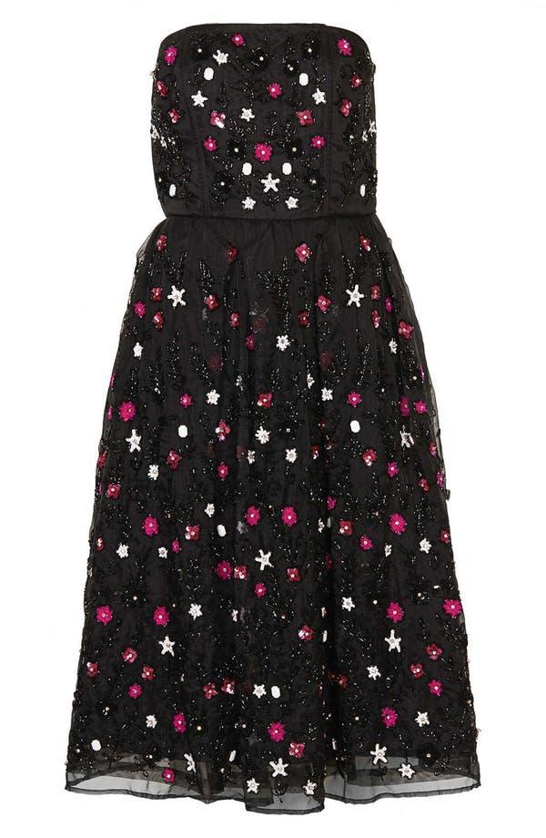 Alternate Image 3  - Topshop 'Sweetie' Embellished Strapless Midi Dress