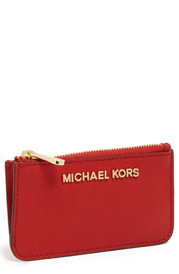 Main Image - MICHAEL Michael Kors 'Jet Set' Saffiano Leather Key Pouch