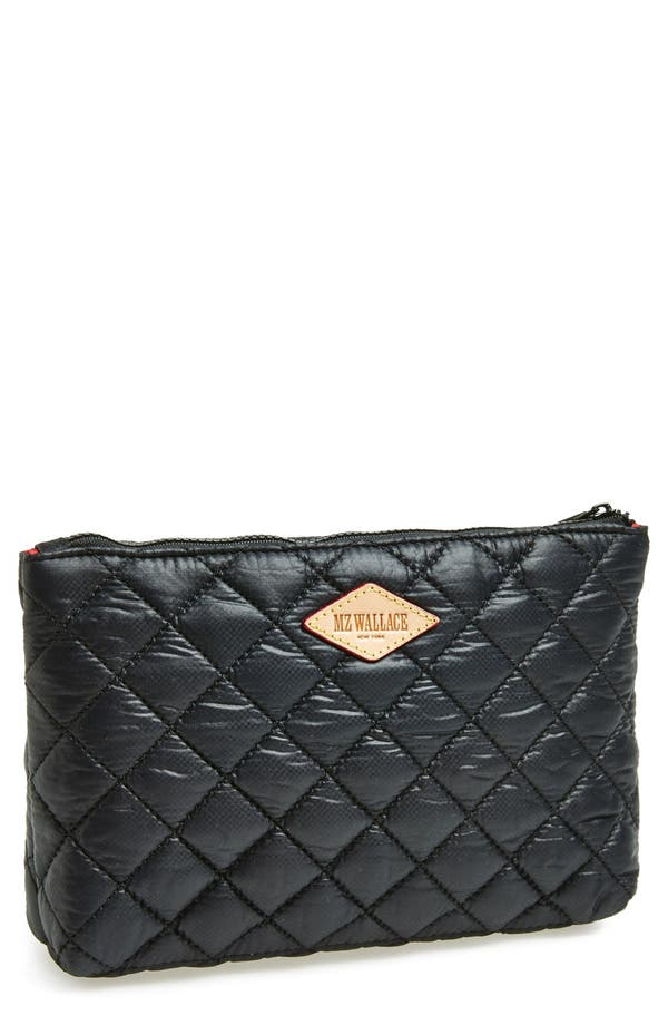 Main Image - MZ Wallace Quilted Metallic Cosmetics Pouch