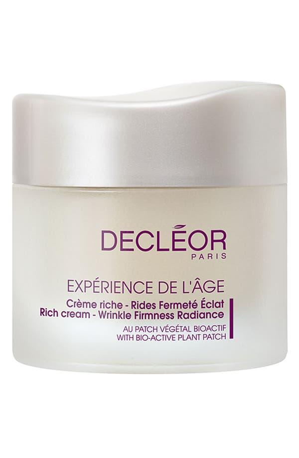 Main Image - Decléor 'Expérience de l'Âge' Rich Cream - Wrinkle Firmness Radiance